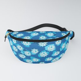 Water Lily Pattern, Turquoise, Blue and White Fanny Pack
