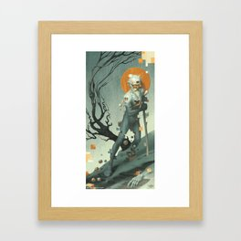 Aboard a Dying Construct Framed Art Print
