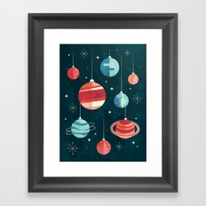 Joy to the Universe (in Teal) Framed Art Print