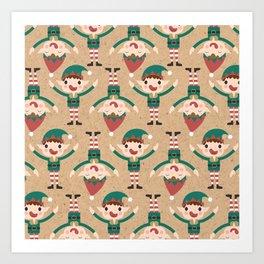 Santa's Elven Slaves II (Patterns Please) Art Print