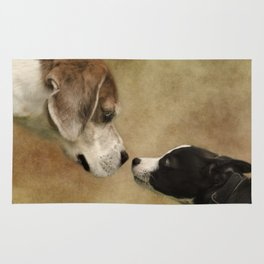 Nose To Nose Dogs Rug