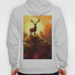 Stag Upon The Hill Hoody
