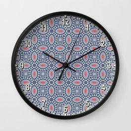 Pool Parlor Pattern Wall Clock