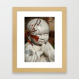 Buddha in the Fall Framed Art Print