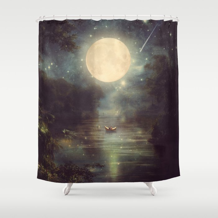 I Wish You Love Me Forever Shower Curtain
