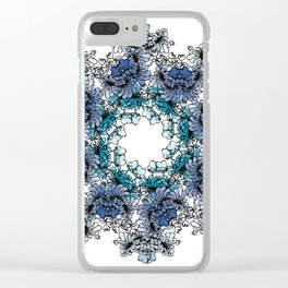 Indigo Bloom Portuguese Tiles – Braga Clear iPhone Case