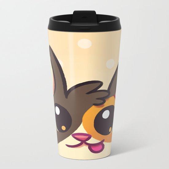 Curious Kitty Cat Metal Travel Mug