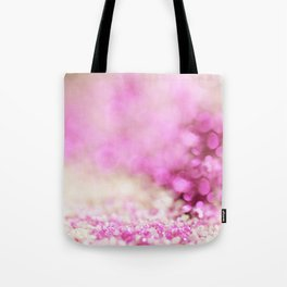 Pink and white shiny glitter effect print - Sparkle Valentine Backdrop Tote Bag