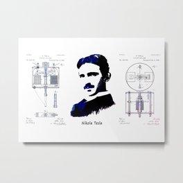 patent Tesla Electric Arc Lamp Metal Print