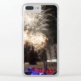 Fireworks Les Arcs 2017 Clear iPhone Case