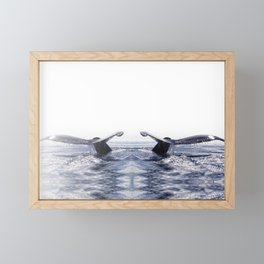 WHALE SONG 1 - DEEP DIVE Framed Mini Art Print