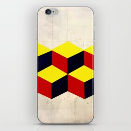 yellow, blue and red iPhone Skin