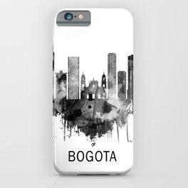 Bogota Colombia Skyline BW iPhone Case