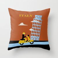 italy Throw Pillows featuring Italy by Laurel Natale