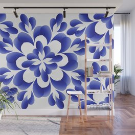 Blue leaves Wall Mural