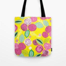 Belles Fleurs - roses bright pattern Tote Bag