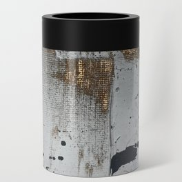Still: an abstract mixed media piece in black, white, and gold by Alyssa Hamilton Art Can Cooler