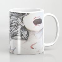 nightmare Mugs featuring Nightmare by Alice Mari