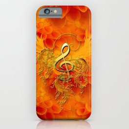 Clef with flowers iPhone Case