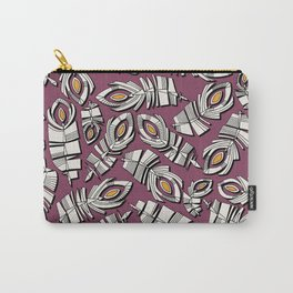 deco feathers ruby saffron Carry-All Pouch