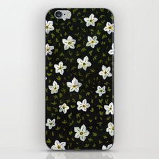White Spring Flowers iPhone & iPod Skin