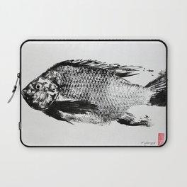 gyotaku - koi fish Laptop Sleeve