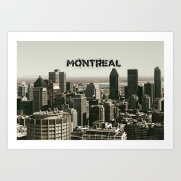 Montreal Canada Skyline with its Name Art Print
