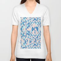 watercolour V-neck T-shirts featuring Watercolour by requetetrend