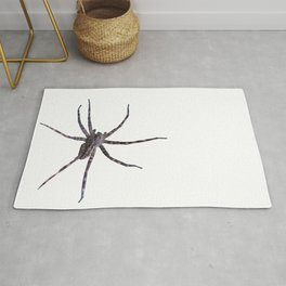Watercolor Graphic 14, Spider, Wolf, Snow, Itsy Bitsy Spider Rug