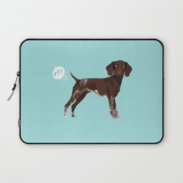 german shorthair pointer funny farting dog breed gifts Laptop Sleeve