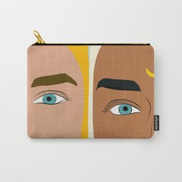 Day & Night, Sun & Moon Friendship Illustration, Nature Bohemian Woman Empower Portrait Carry-All Pouch