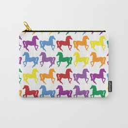 COLORFUL HORSES Pop Art Carry-All Pouch