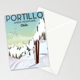 Portillo Ski Chile Ski travel poster. Stationery Cards