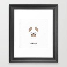 Pedigree: French Bulldog Framed Art Print