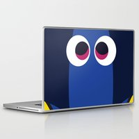 finding nemo Laptop & iPad Skins featuring PIXAR CHARACTER POSTER - Dory - Finding Nemo by Marco Calignano