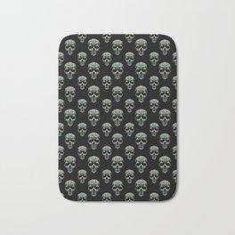 Skulls Motif Print Pattern Bath Mat
