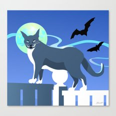 Jack Cat Goes Gothic Canvas Print