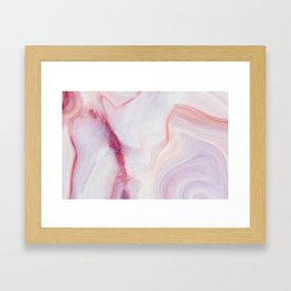 Pink And White Stone Framed Art Print