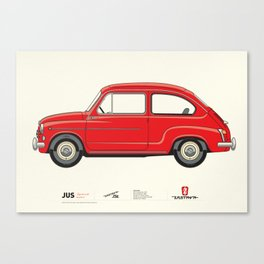 Automobile Zastava 750 - Zastava Canvas Print