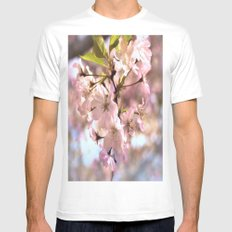 Spring Blossoms MEDIUM Mens Fitted Tee White