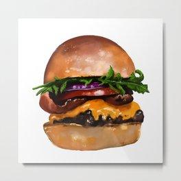Do you want a burger? Metal Print