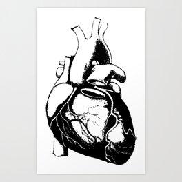 Human Heart Lub Dub Art Print