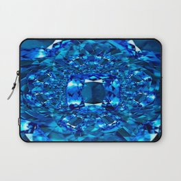 Dreaming  in Blue-Teal Sapphire Gems Abstract Art Laptop Sleeve