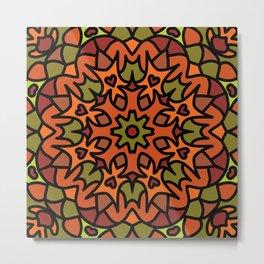 Abstract Mandala Metal Print
