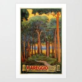 Viareggio woods and sea Art Print