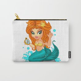 A Cute little mermaid and a compass Carry-All Pouch