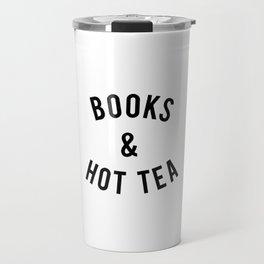 Books and Hot Tea Travel Mug