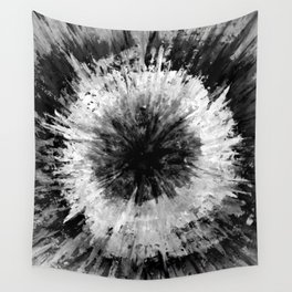 Black and White Tie Dye // Painted // Multi Media Wall Tapestry