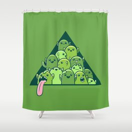 Itty-bitty Goblin Hoard Shower Curtain