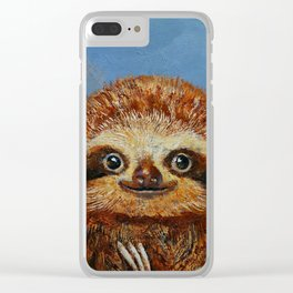 Baby Sloth Clear iPhone Case